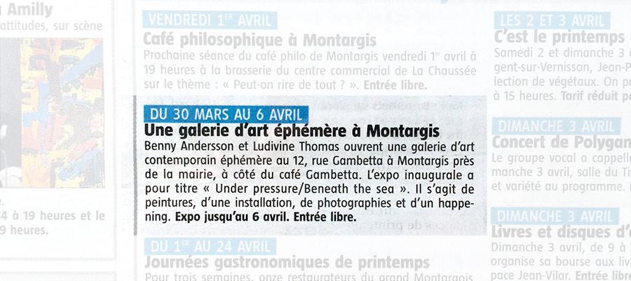 2016-03-30 L'Eclaireur du Gâtinais No 3674 / Page 18 Spectacles / Loisirs